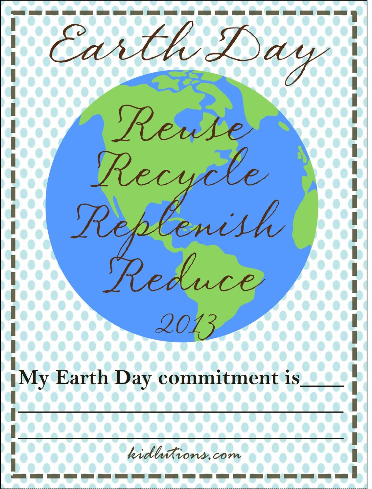 Earth Day Free Printable