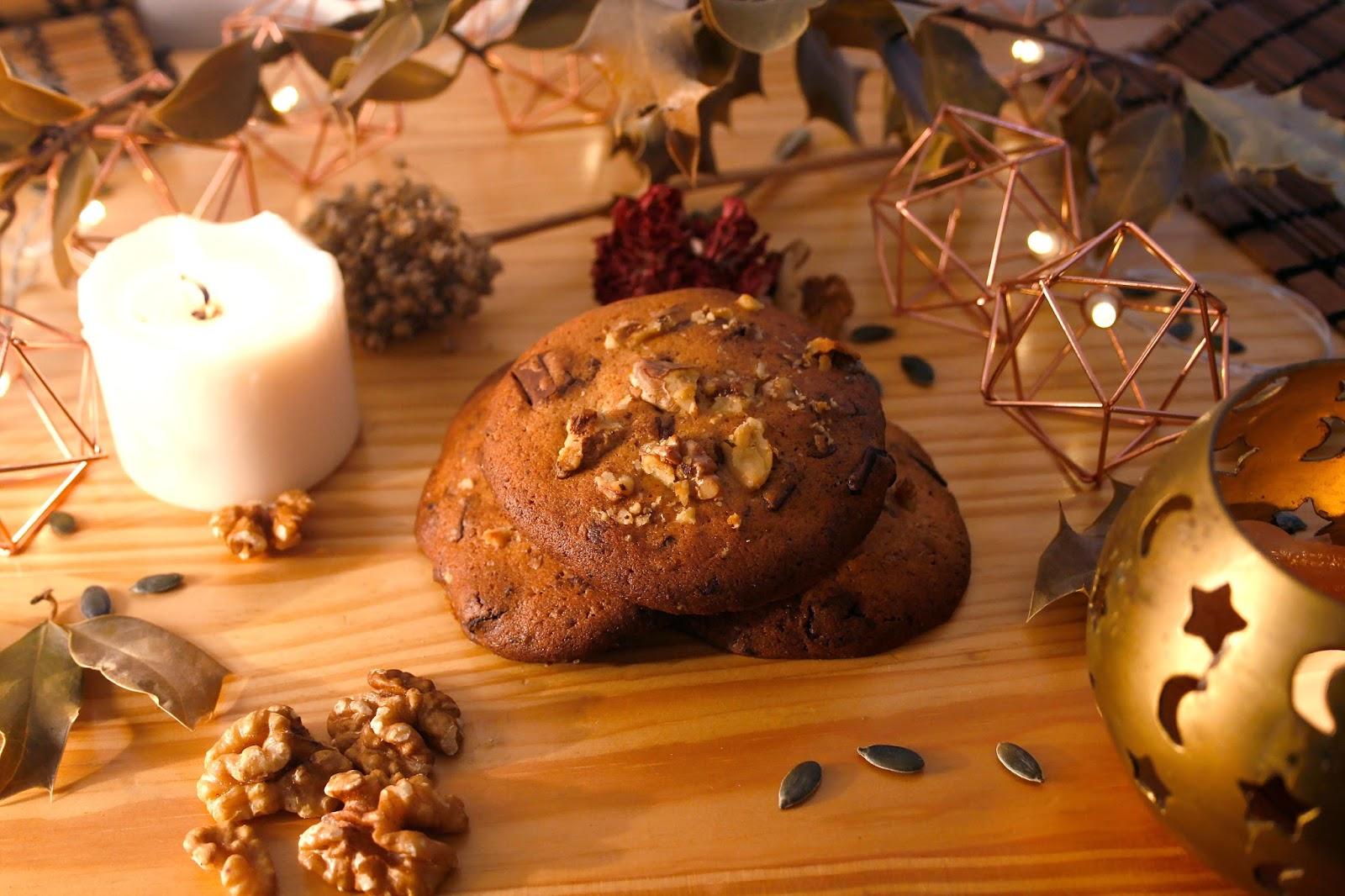 recette cookie chocolat orange noix sucrée