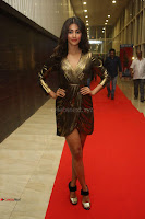 Pooja Hegde looks glamarous in deep neck sleevless short tight golden gown at Duvvada Jagannadham thank you meet function 006.JPG