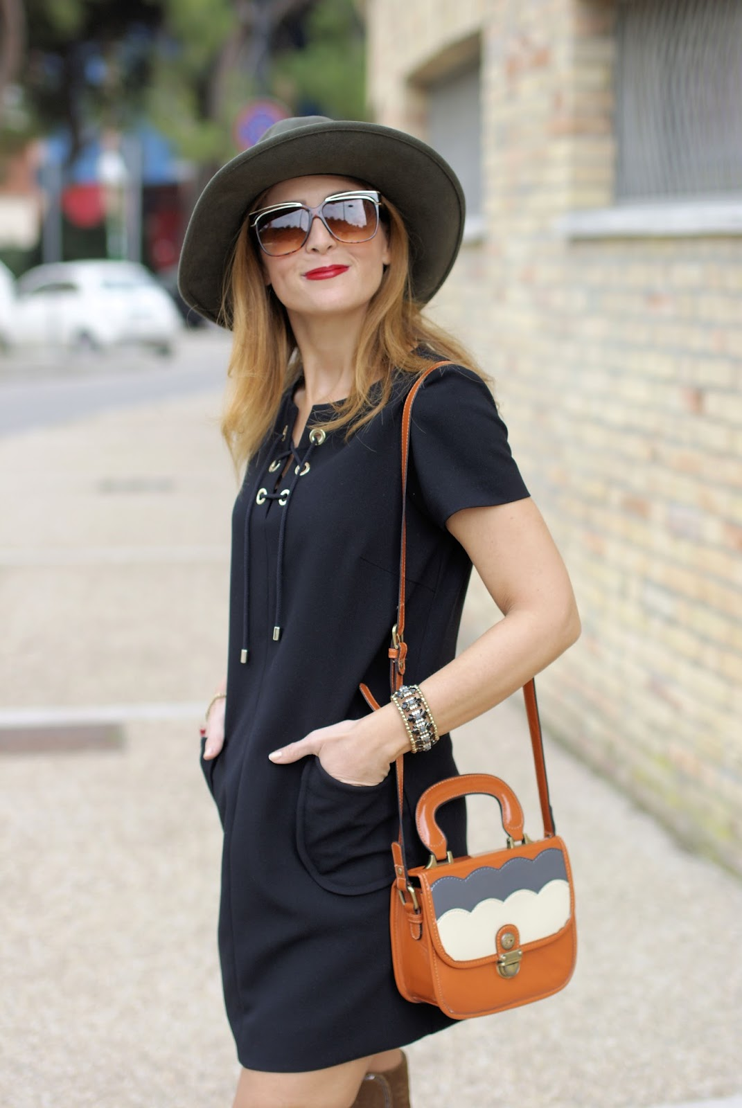 1.2.3 Paris Dina dress and Ecua Andino hat on Fashion and Cookies fashion blog, fashion blogger style