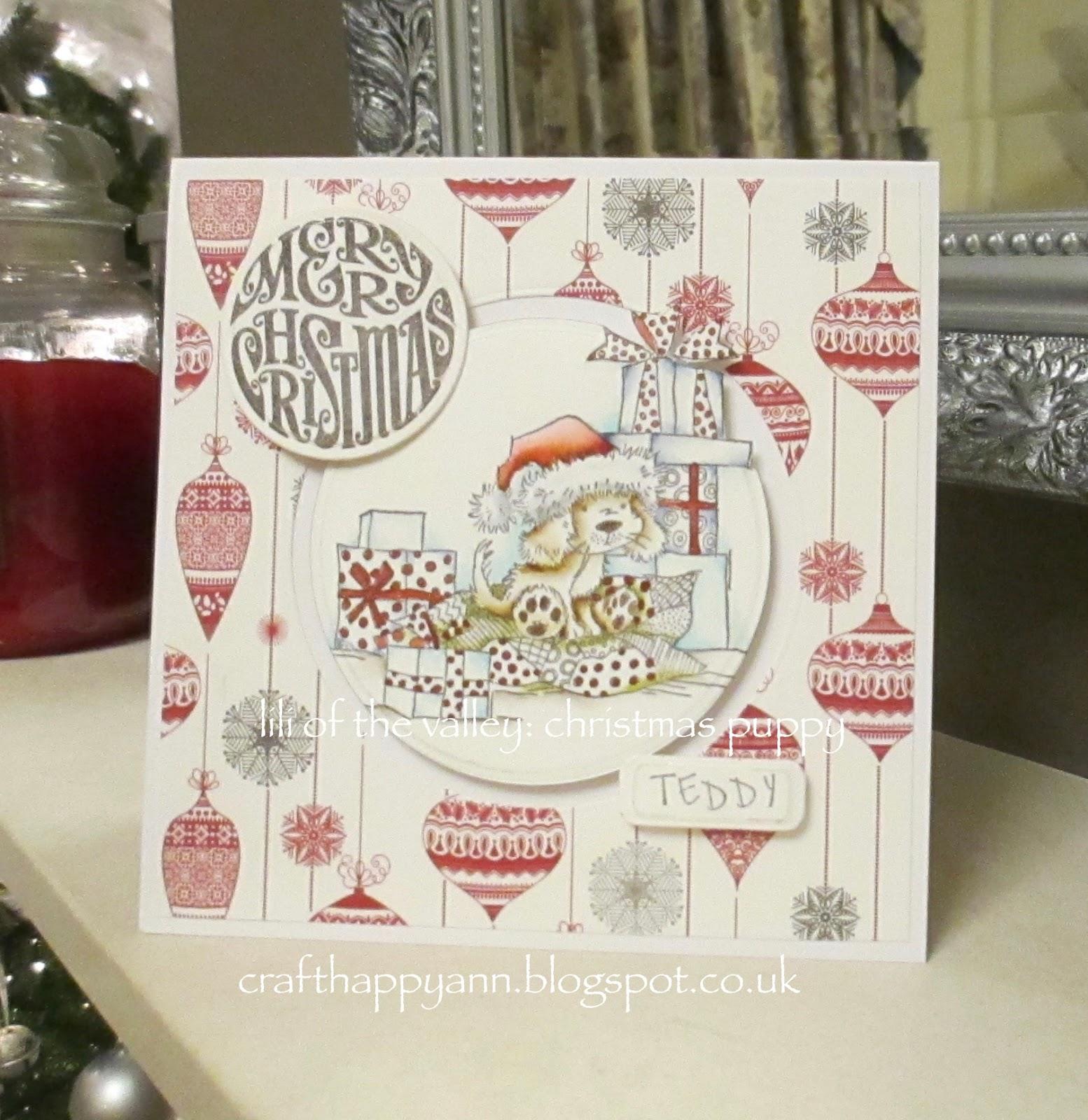 craft happy ann: Merry Christmas - Teddy & Caragh Aoife
