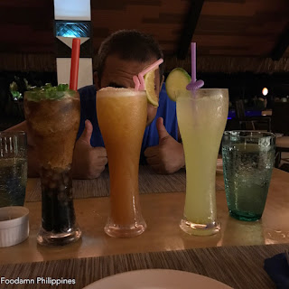 South Palms Resort Panglao - Oceanica Seafood Restaurant juices