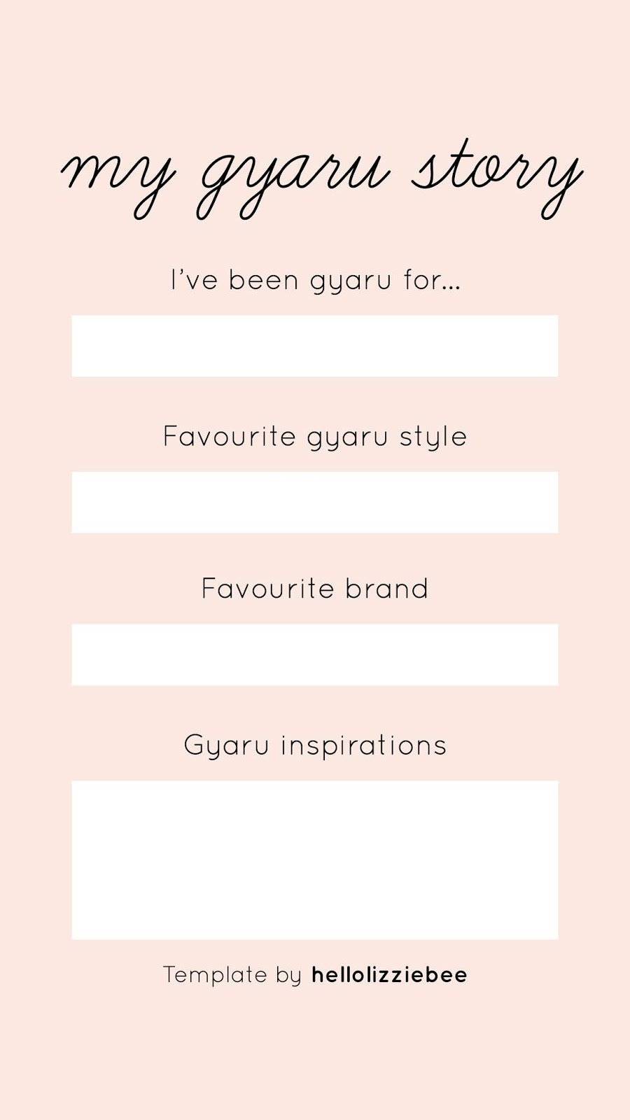 gyaru instagram stories template