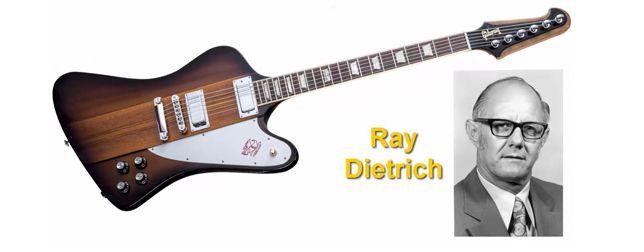 Raymond Dietrich Diseñador de la Guitarra Electrica Gibson Firebird