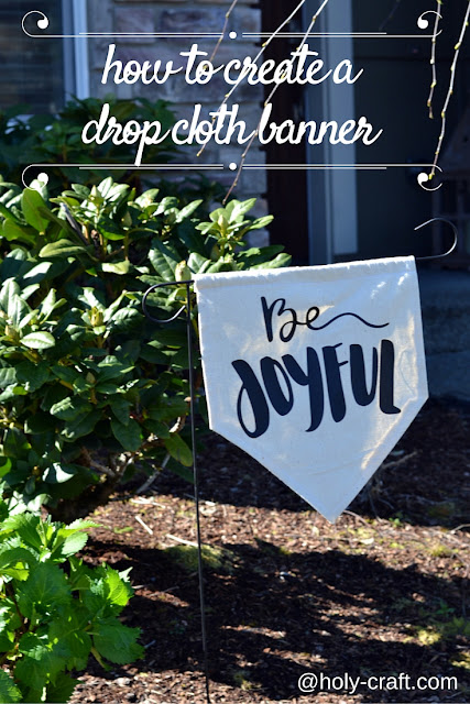 How to create a drop cloth banner