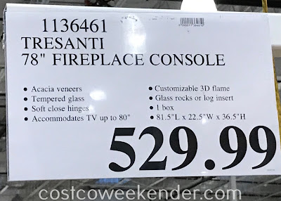 Deal for the Tresanti Fireplace Console at Costco