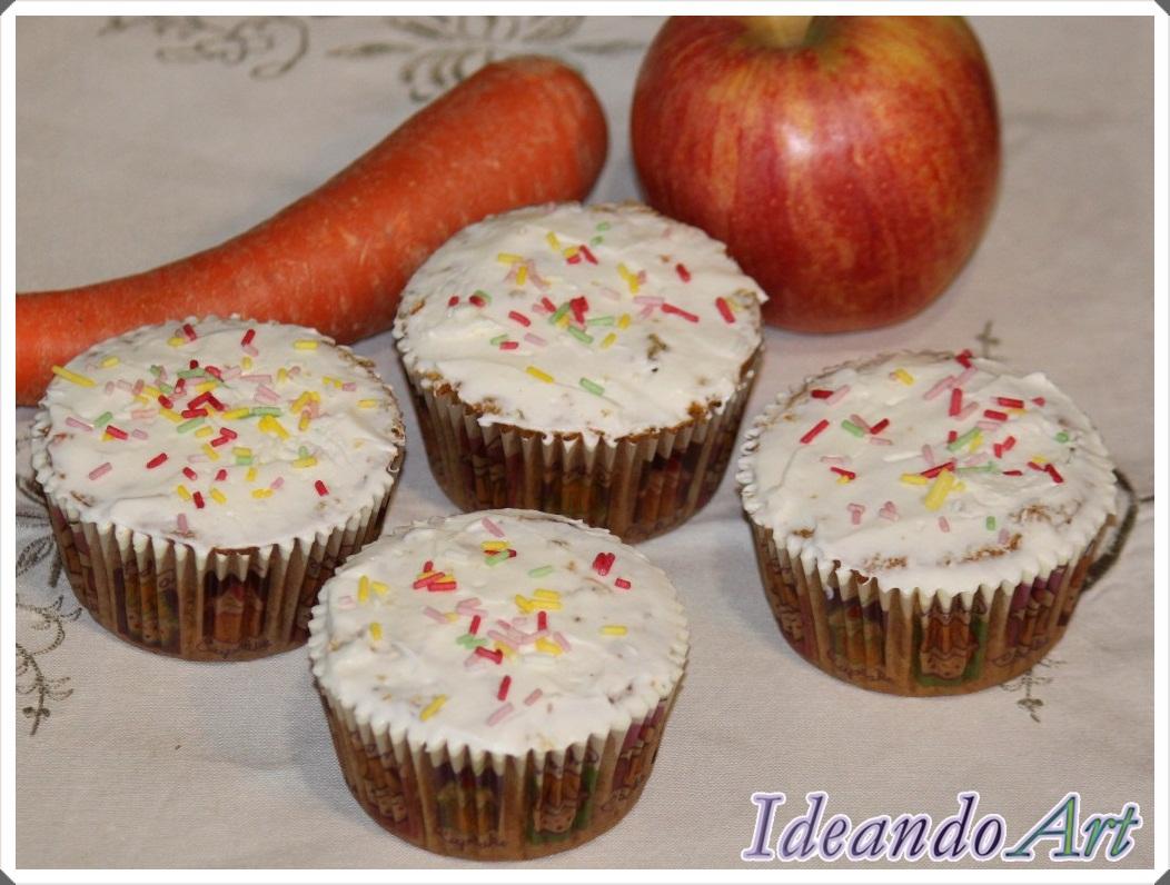 Cupcakes zanahoria y cream cheese icing