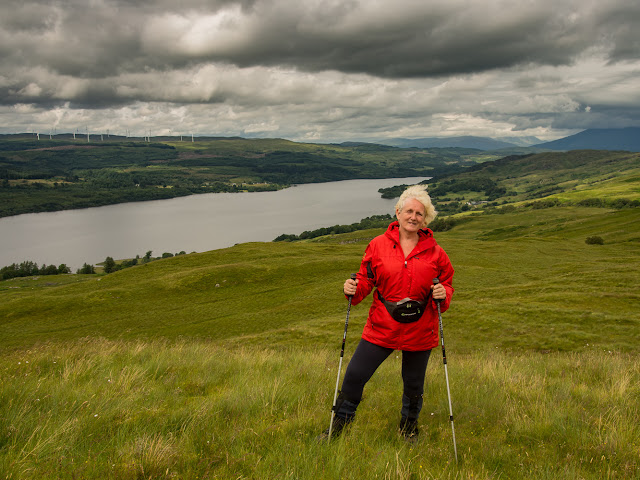 Photo of me walking in the hills above our holiday cottage