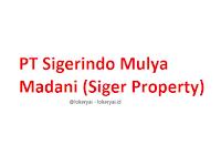Lowongan Kerja PT Sigerindo Mulya Madani (Siger Property) Terbaru