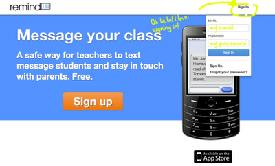 Safe, free text messaging to whole of a class