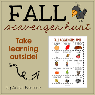 FREE Signs of Fall Scavenger Hunt- take learning outside!