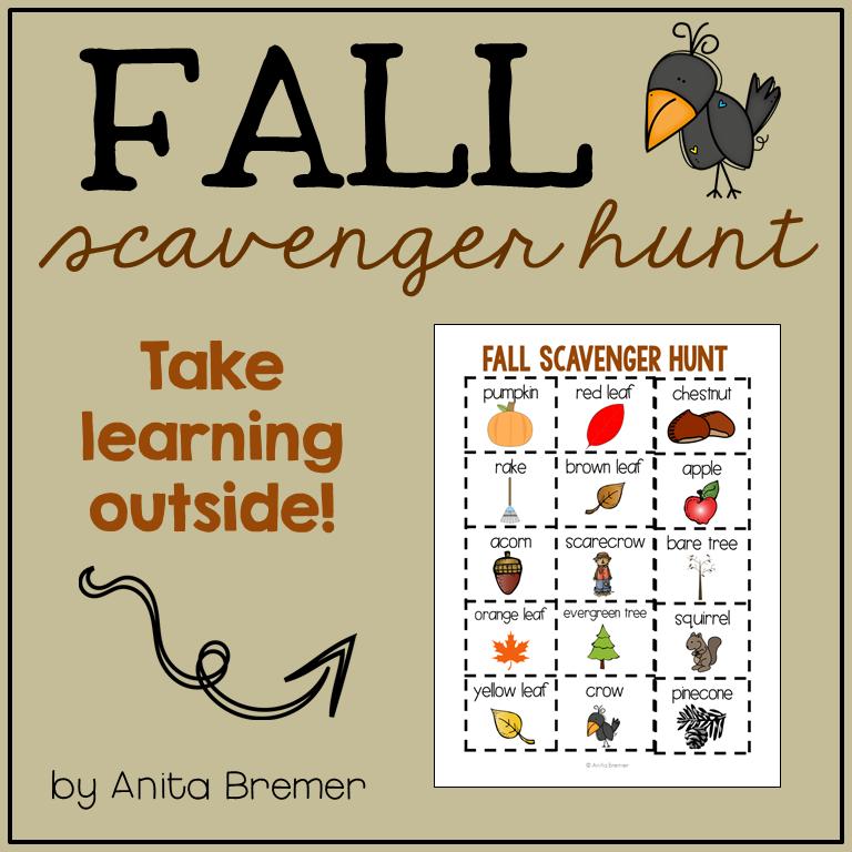 Fall Backyard Scavenger Hunt : FREE Fall Outdoor Scavenger Hunt for Kids