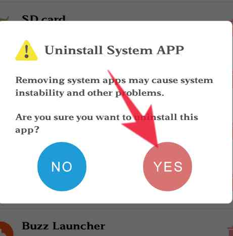 android mobile system app delete kese kare