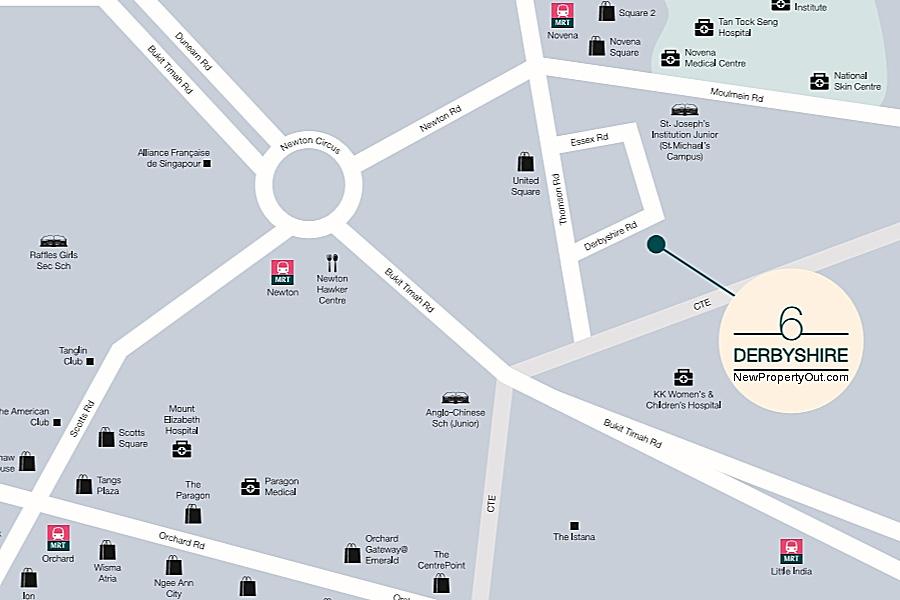 6 Derbyshire location map
