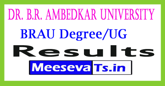 Dr. B.R. Ambedkar University Degree Exam  Results 2017