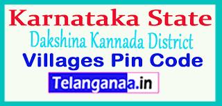 Dakshina Kannada District Pin Codes in Karnataka  State