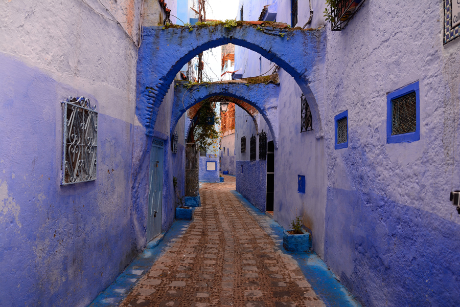 Maroko niebieskie miasto