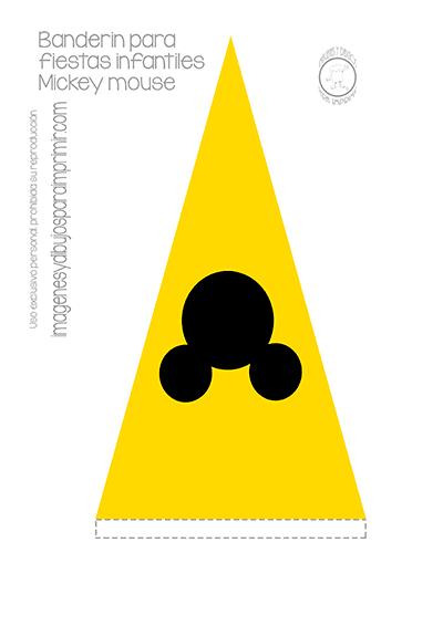 Mickey Mouse Pdf >> Banderines de mickey mouse para imprimir   Imagenes y dibujos para imprimir