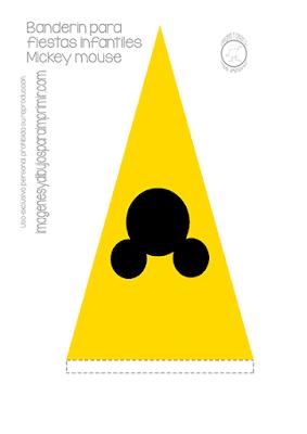 banderin amarillo de mickey mouse