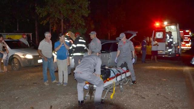 Colisão entre dois carros na vicinal Mogi Guaçu x Itapira deixa 5 feridos