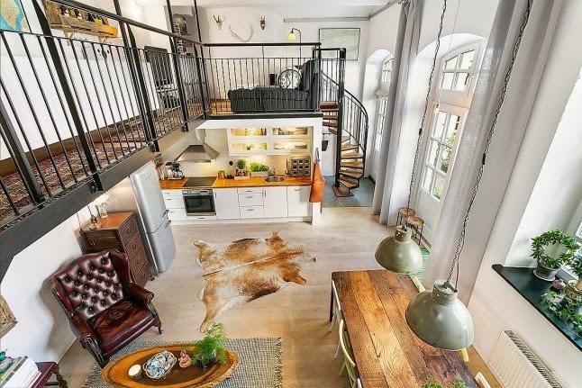 3 secretos de vivir en un loft que te apasionara for Cocina industrial tipo loft