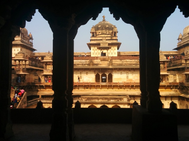 Amazing jehangir mahal, orchha, madhya pradesh