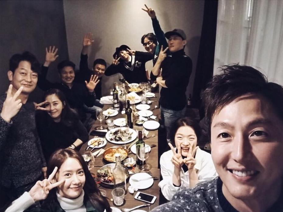 Check out SNSD YoonA's picture with the cast of 'The K2