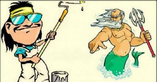 Ανέκδοτο: Ένας Ελληνάρας…. μπογιατζής στον Παράδεισο!
