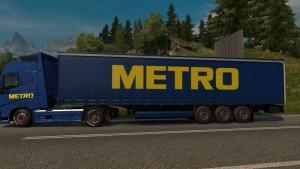 Metro Skin for Volvo FH 2012 + trailer