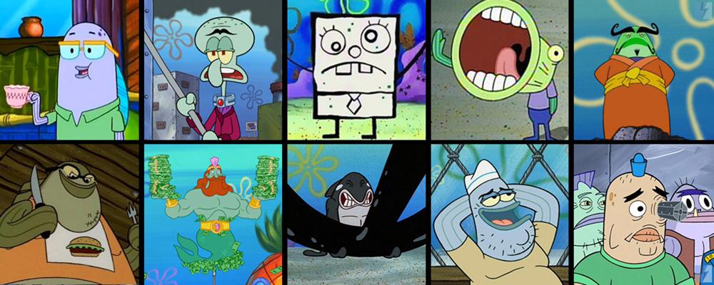 Karakter Ikan Figuran di Spongebob Squarepants