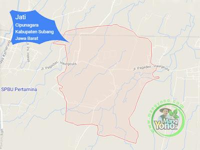 PETA :  Desa Jati, Kecamatan Cipunagara
