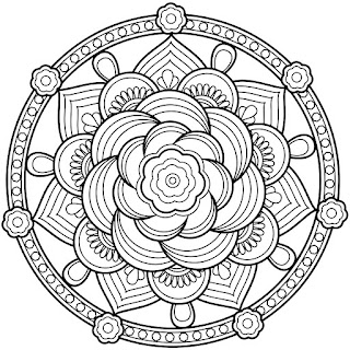 Coloring Pages For Adults Digital Adult Books Mandala