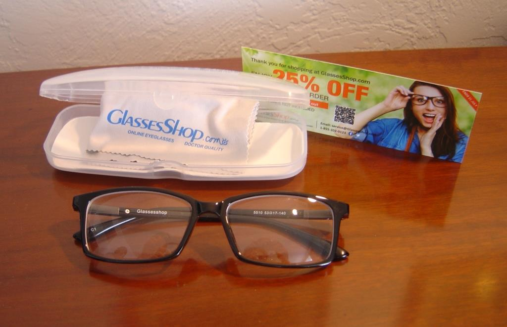 GlassesShop.com eyeglasses and case
