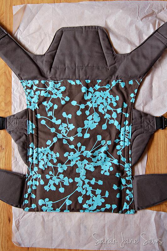 Sarah Jane Sews Ladybug Baby Carrier Slipcover Tutorial