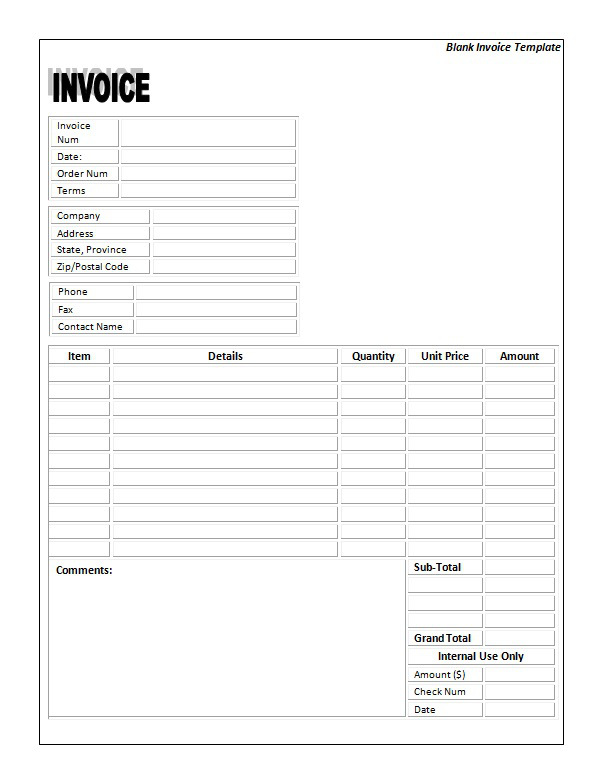Invoice Word Template Free 10 tax invoice templates download free – Free Tax Invoice Template Word