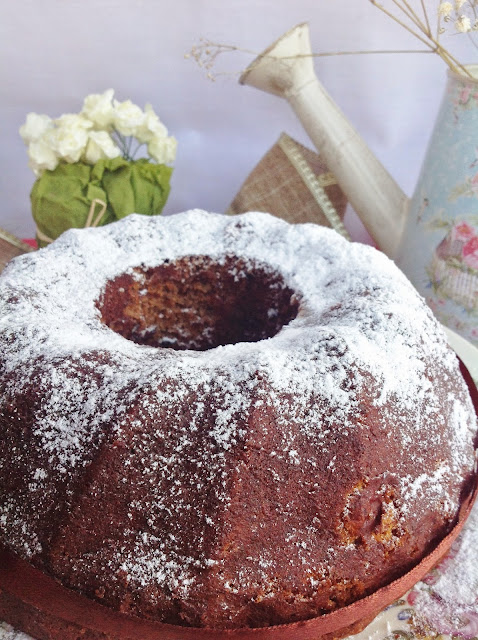 Bundt cake de chocolate con patata