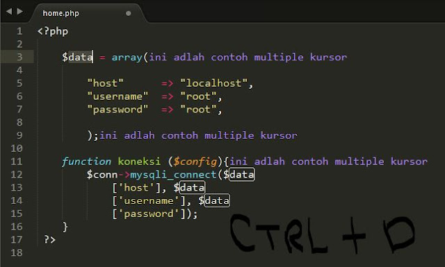 Tutorial Sublime Text 3 – #4 Editing (Bagian 1) 3