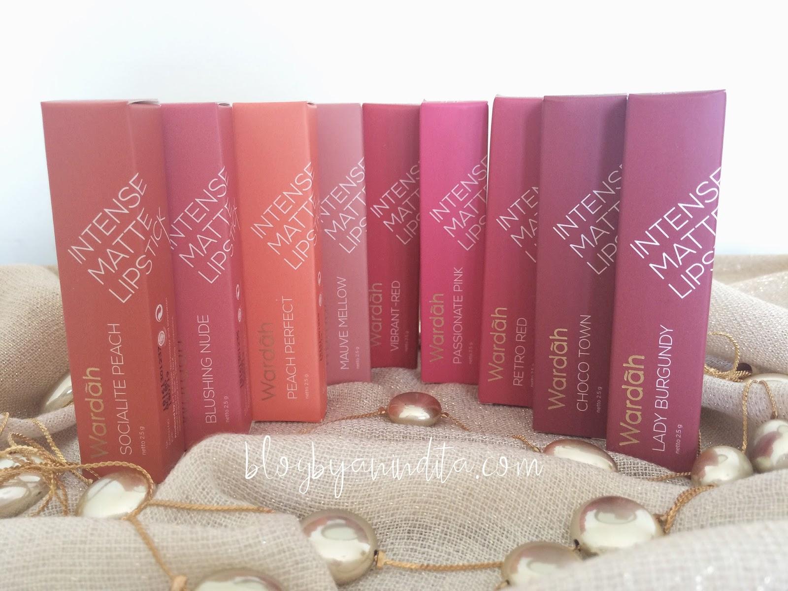 Blog By Anindita Beauty Review Wardah Intense Matte Lipstick Lipstik No9 Untuk Lipsticknya Sendiri Kemasannya Menurut Saya Mirip Sama Dengan Yang Seri Longlasting Jadi Kalau Pas Kardus Luarnya Kebuang