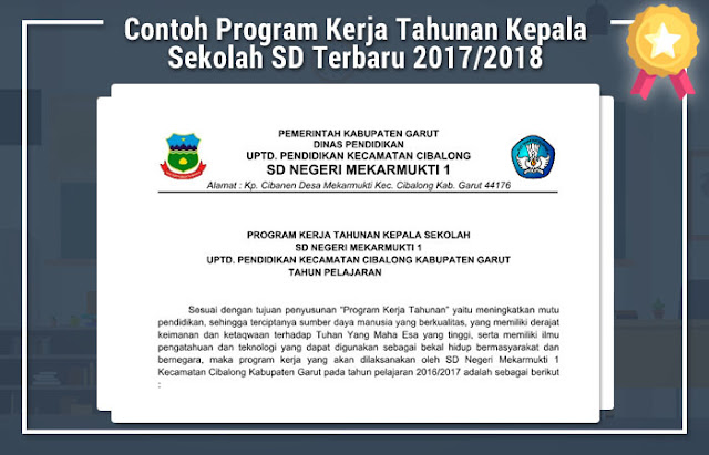 Contoh Program Kerja Tahunan Kepala Sekolah SD Terbaru 2017/2018