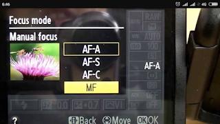 Mode fokus kamera
