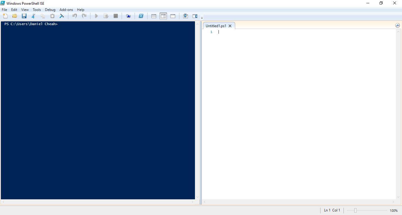 Daniel Cheah Blog: Windows 10 - Create & Run PowerShell Script
