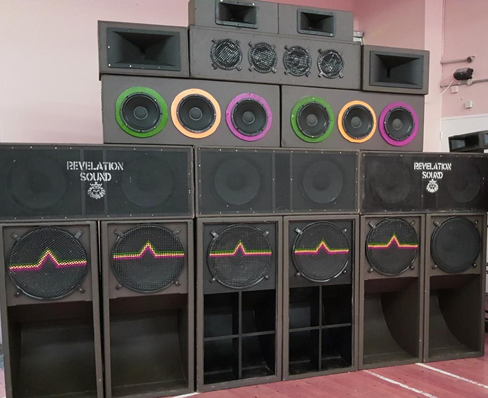 reggae sound system equipment. marking this two decade milestone, the revelation family have a boom year installed for all supporters of rebel county sound system. reggae system equipment