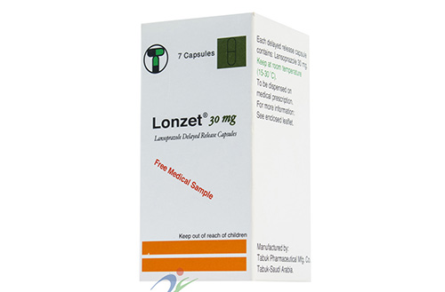 سعر ودواعي إستعمال دواء لونزت Lonzet كبسولات لعلاج قرحة المعدة