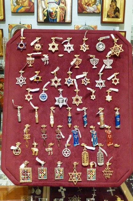 souvenir pingentes judaicos - Souvenir em Roma