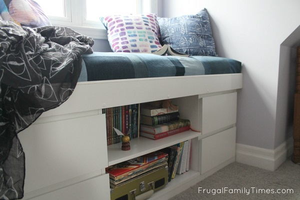 IKEA window seat with drawers