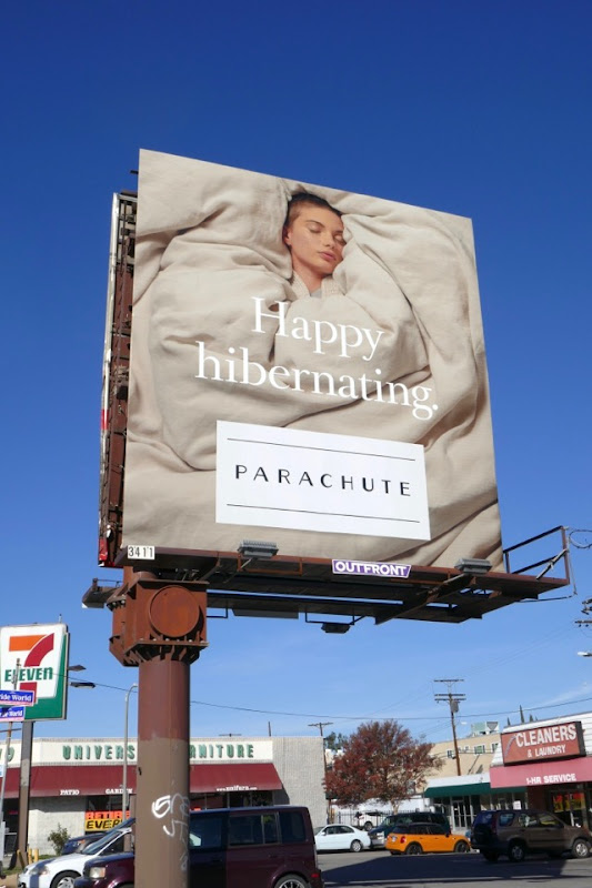 Happy Hibernating Parachute Home billboard
