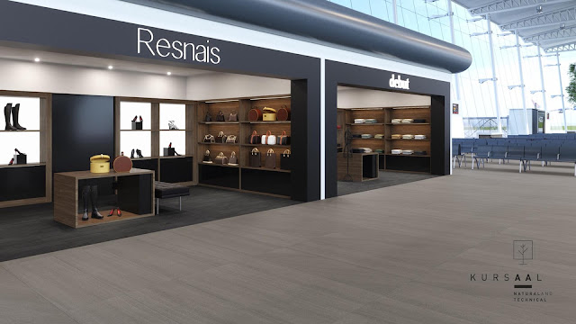 Outside floor tiles design Kursaal series for local - heavy commercial areas