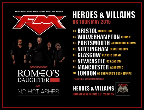 FM Heroes and Villains Tour May 2015 poster