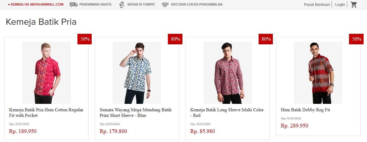 Kemeja Batik Koleksi Mataharimall.com