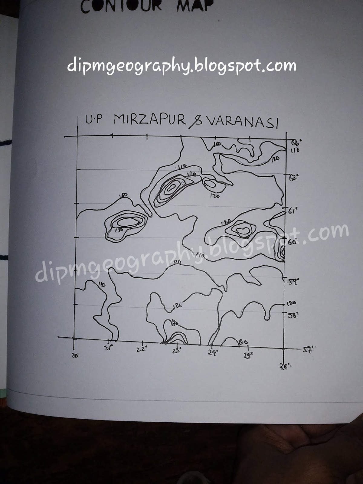 Dipm Geography 2 Contour Map And Profiles Making